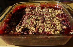 Raspberry Bars in Pan